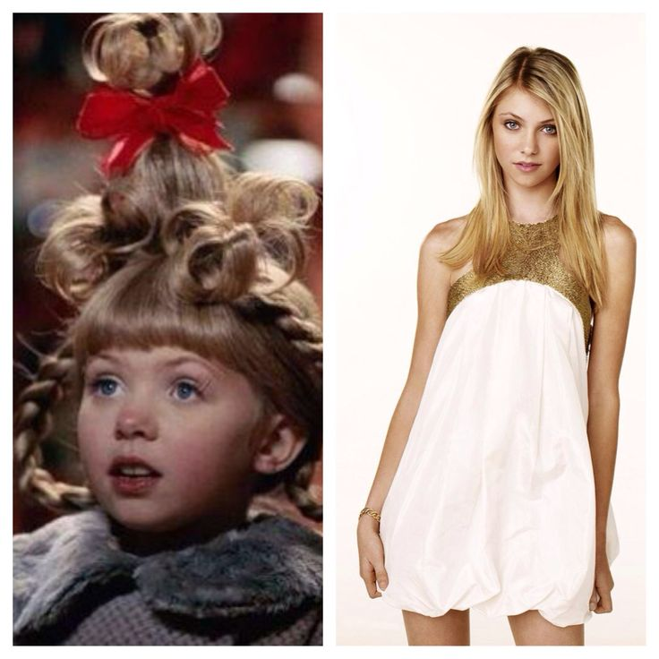 Cindy Lou Who (Taylor Momsen), then and now