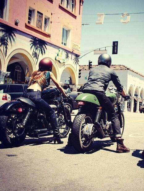 @Harley-Davidson #nightster and @Triumph Motorcycles - a couple that rides…