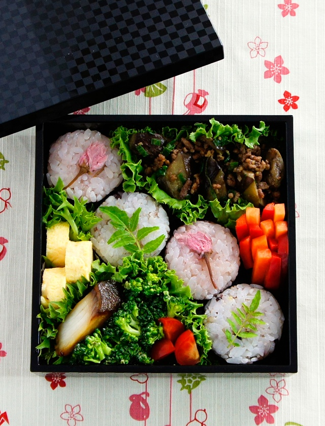 Japanese Bento Box Lunch with Onigiri Rice Balls by Nadeshiko