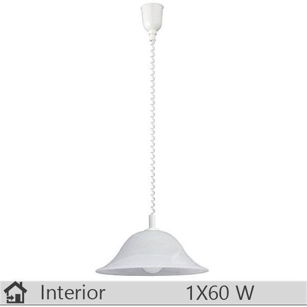 Pendul iluminat decorativ interior Rabalux, gama Alabastro, model 3904