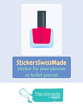 StickersSwissMade @Amazon Handmade Germany || PLANNER STICKER || nail polish || beauty || small colored icon | for your planner or bullet journal von der StickersSwissMade https://www.amazon.de/dp/B0711M1MZC/ref=hnd_sw_r_pi_dp_MElfzbYWEE2QM #handmadeatamazon