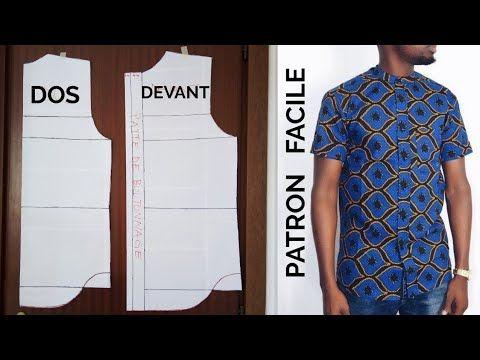 DIY , Coudre une, chemise, boubou, homme, (PATRON de Base