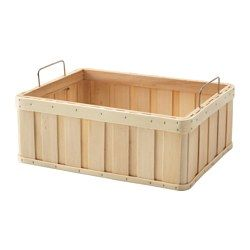 """IKEA - BRANKIS, Basket, 14 ¼x10 ¾x5 """", , Storing your belongings in baskets makes it easier to be organized and find what you're looking for.Easy to pull out and lift as the basket has handles."""