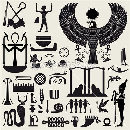 Egyptian Symbols and Sign SET 2 — Stock Illustration #5872428