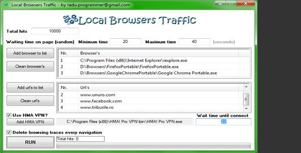 Local Browsers Traffic . Local has features such as High Resolution: No, Compatible OS Versions: Windows XP, Windows Vista, Windows 7, Windows 8 Desktop, Windows 8 Metro, Application Runtime: Native