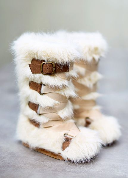 New Lexi Fur Boots In Cream Toddler And Girl Sizes