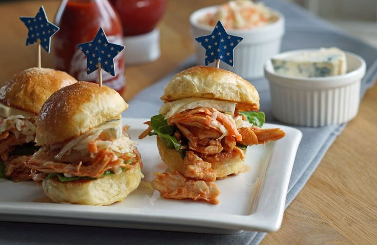 Buffalo Chicken Slider (Mini-Hamburger mit Huhn)
