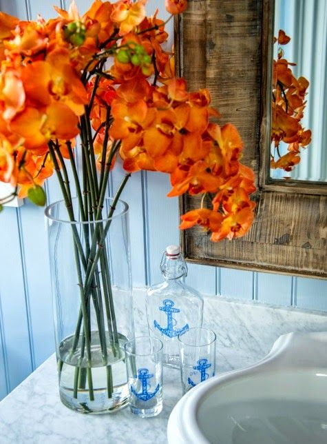 Nautical anchor bottles in HGTV's Coastal Dream Home 2015: http://www.completely-coastal.com/2015/01/hgtv-dream-home-2015-marthas-vineard.html