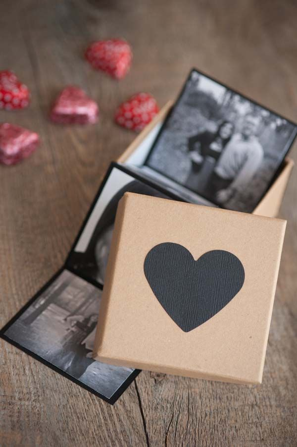 Create these awesome DIY photo strip valentines and nestle them into a box of heart-shaped chocolates for the sweetest Valentines' Day gift going!