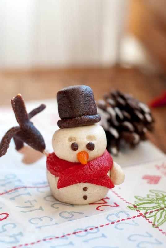 cute marzipan snowman