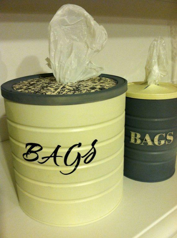 Kitchen Bag Holder--what a cool idea!!!!