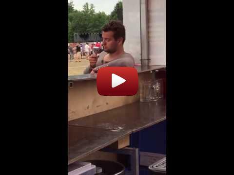 Funny Drunk Man Eating Ice Cream (  #drunk #fail #icecream #lol #man )