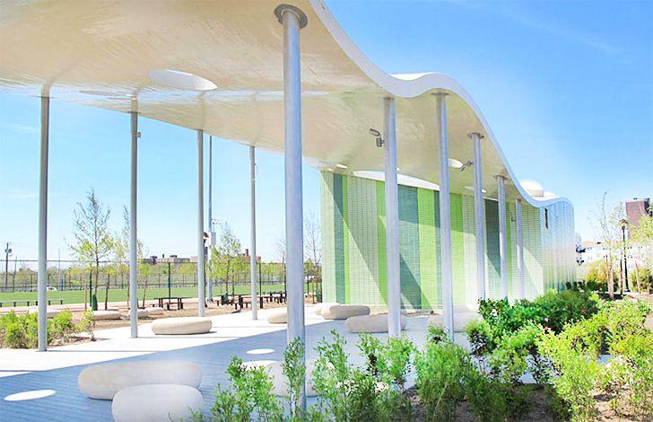 Beach 30 Pavilion is an Undulating New Outdoor Classroom for The Far Rockaways