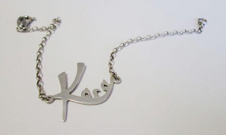 Personalized name bracelet #name #silver #handmadejewellery #gift #birthdaypresent