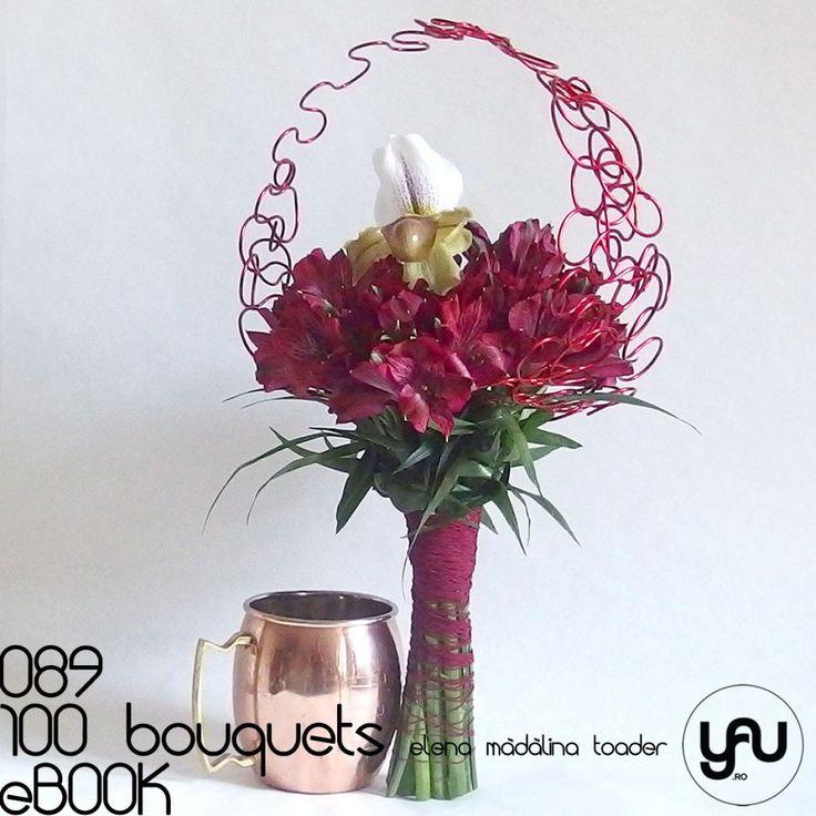 Buchet cu ALSTROEMERIA si orhidee PAPHIOPEDILUM #100bouquets #ebook #yauconcept #elenamadalinatoader