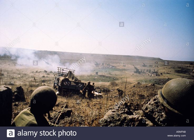 ISRAELI ARTILLERY POSTION GOLAN HEIGHTS EXCHANGE FIRE WITH SYRIAN