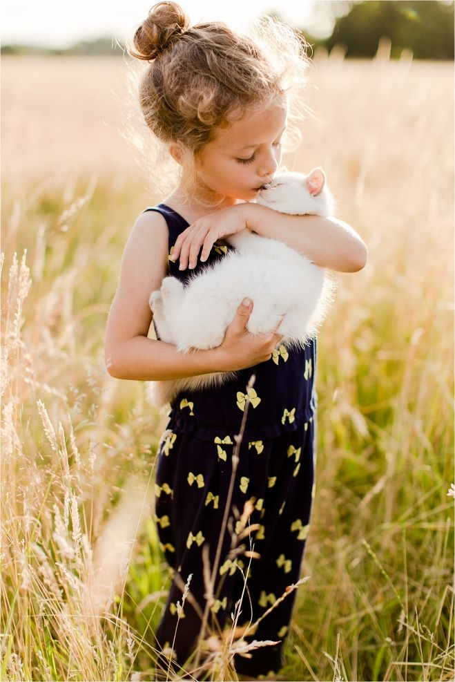 childrens photography | Eddie Judd Photography | kitten and girl | sunset