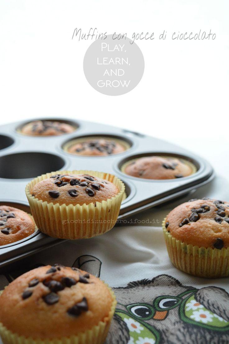 Muffins allo Yogurt con gocce di Cioccolato | Giochi di Zucchero