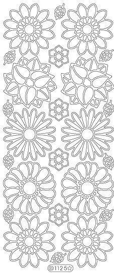 Starform Peel Off Stickers 1125 Flowers Black от PNWCrafts