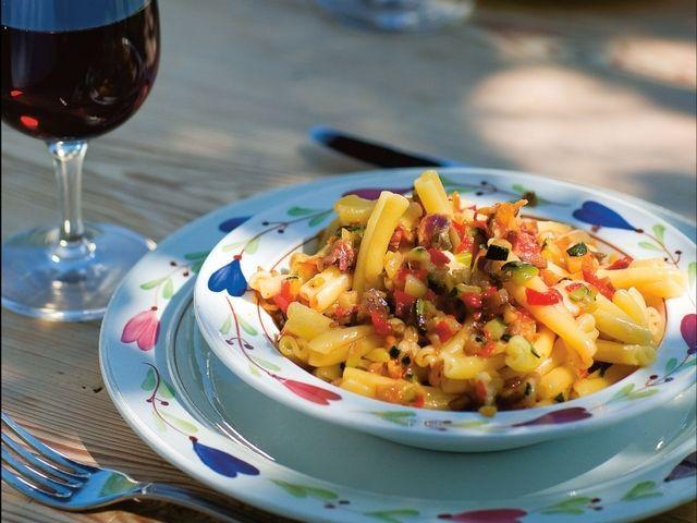 Pasta med rostade grönsaker (kock Paolo Roberto)