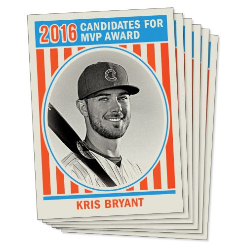 "1972 Topps ""U.S. Presidents"" Design - MVP Candidates - 2016 TBT Set 16 - Print Run QTY: 540 Packs"