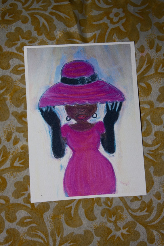 Miss Sassy Postcard by amberroyaltyboutique on Etsy, $2.50