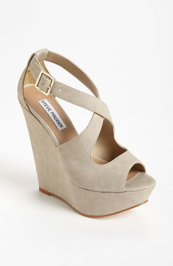 Steve Madden 'Xternal' Wedge Sandal. Love.