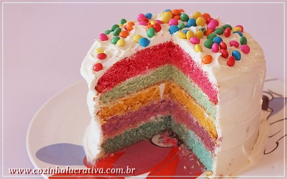 Aprenda a receita desse bolo simples, lindo e colorido!   .       Hummm, que tal aproveitar a tarde para fazer um bolo? Mas não é qualquer ...