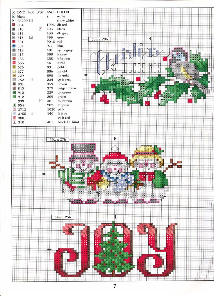 JOY - if you have time for a bit christmas cross stitch
