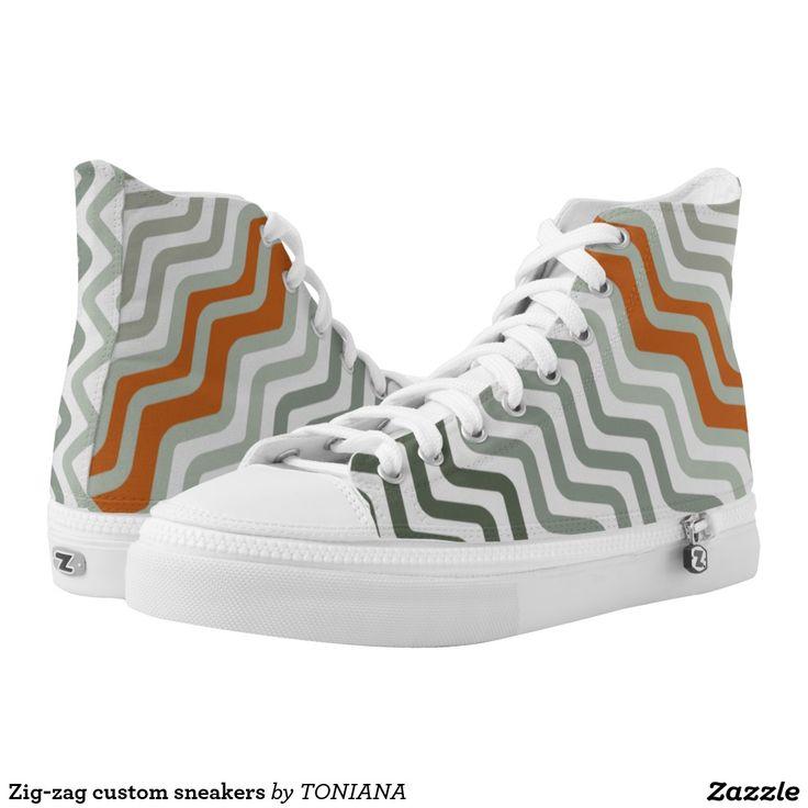 Zig-zag custom sneakers