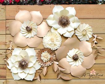Paper flower backdrop includes 5 oversized flowers (18) in diameter. Choose your colors! Giant paper flowers for birthdays, events, and all occasions.  This beautiful paper flower backdrop would make a gorgeous centerpiece for your next event. Each petal is cut, sculpted, and meticulously assembled. Flowers will be slightly different from each other and made to order. --------------------------------------------------------------------------------------------------------- All flowers are…