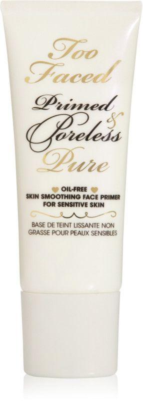 Too Faced Primed & Poreless Pure Primer.. best primer for sensitive skin. EverydayStarlet.com @sarahblodgett (affiliate)