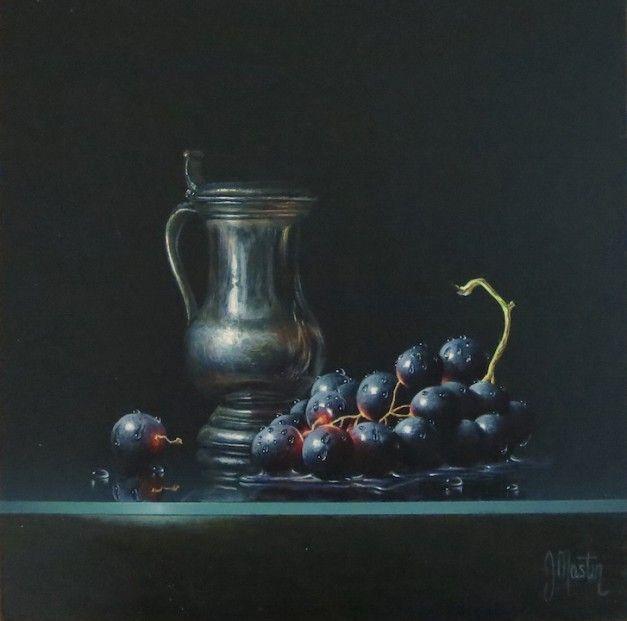 Ian Mastin, Tankard with Black Grapes, Acrylics | Scottish Contemporary Art