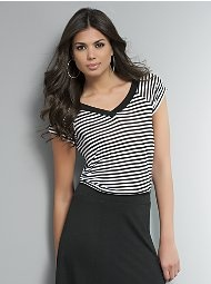 Striped Trapeze T-Shirt