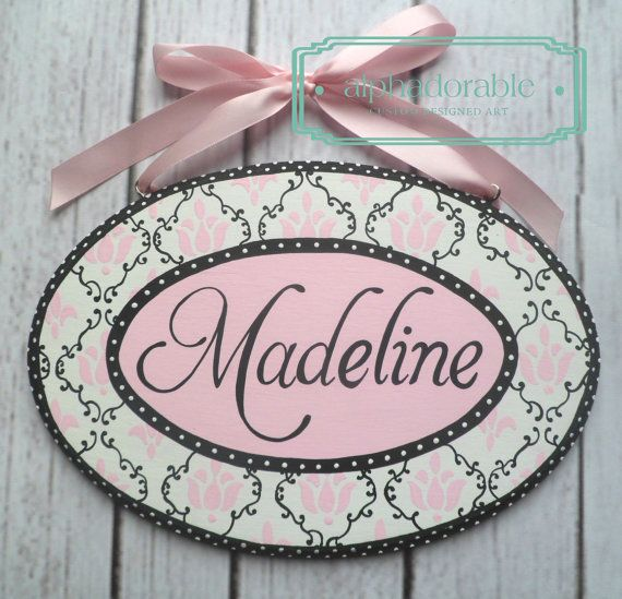 64 best custom hand painted plaques images on pinterest hand duchess pink and black custom artisan hand painted wooden personalized name door plaque name plate negle Image collections