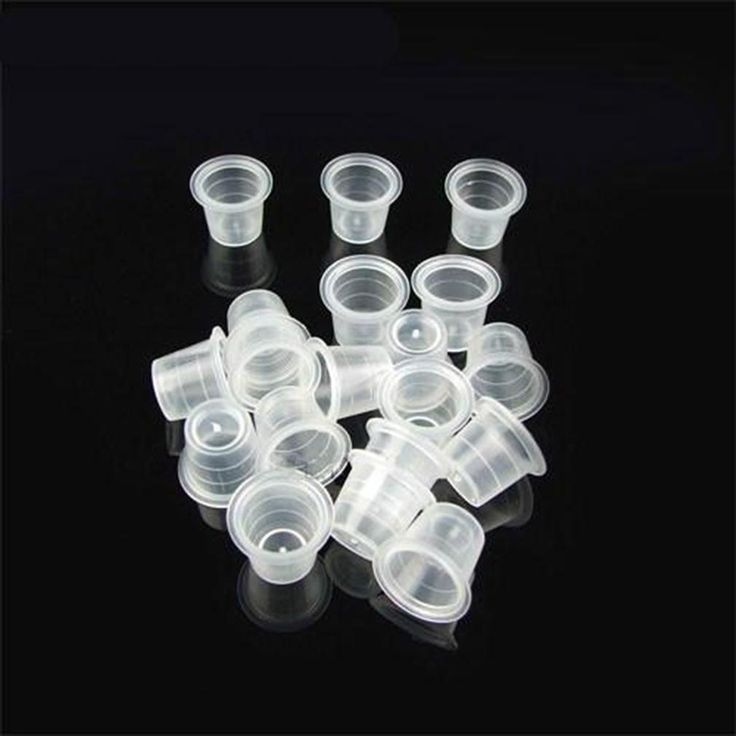 1000 Pcs/ Small Size White Tattoo Ink Cups Caps for Needle Tip Grip Power Supply