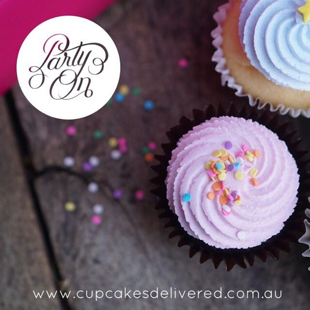Party time. Have a wonderful weekend cupcake-lovers! #weekend #party #partytime #friday #fridaynight #fun #cupcakesdelivered #cupcakesdelivered #love #celebrate #pink #cake #cupcakes #sprinkles #sparkle #sydney #melbourne #brisbane #adelaide #perth #food #foodie