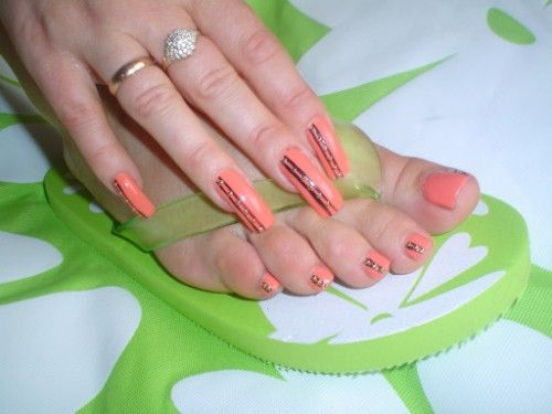 French Manicure Toe Nail Art Designs Splendid Wedding Company