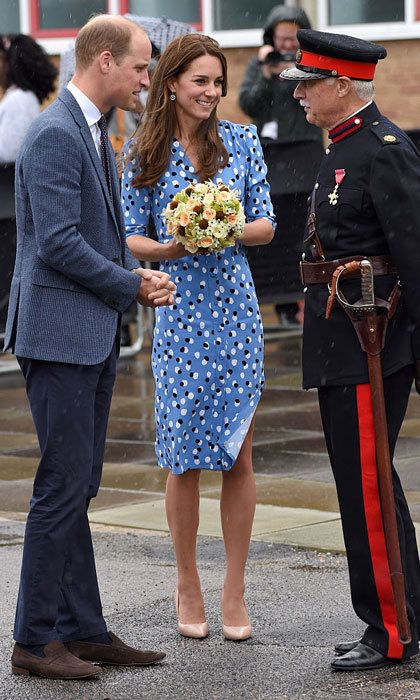 Thankfully, Kate and William had a chance to calmly chat with the Vice Lord Lieutenant during the visit.