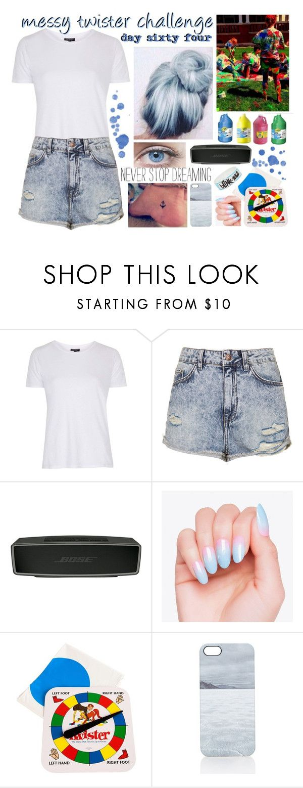 """""""day sixty four, messy twister challenge"""" by roxouu ❤ liked on Polyvore featuring Topshop, Bose, Twister, Nixon, challenge and byroxouu"""