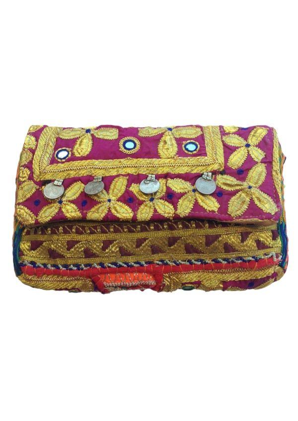 Karma East - Vintage Banjara Gypsy Clutch 3