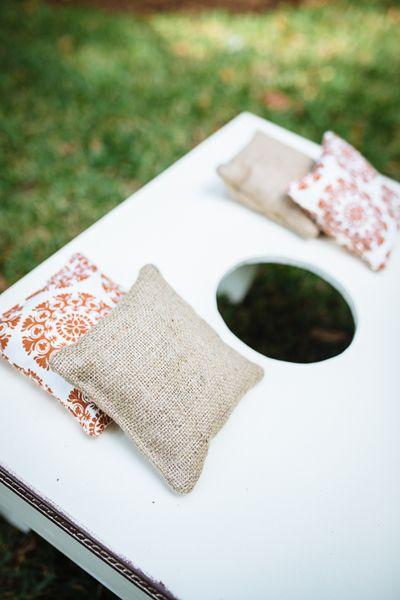 wedding cornhole !! :) for an outdoor wedding reception