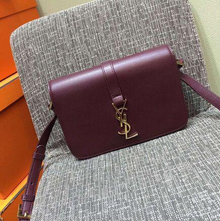2015 New Saint Laurent Bag Cheap Sale-Saint Laurent Classic Medium Monogram UNIVERSITE BAG in Burgundy Leather