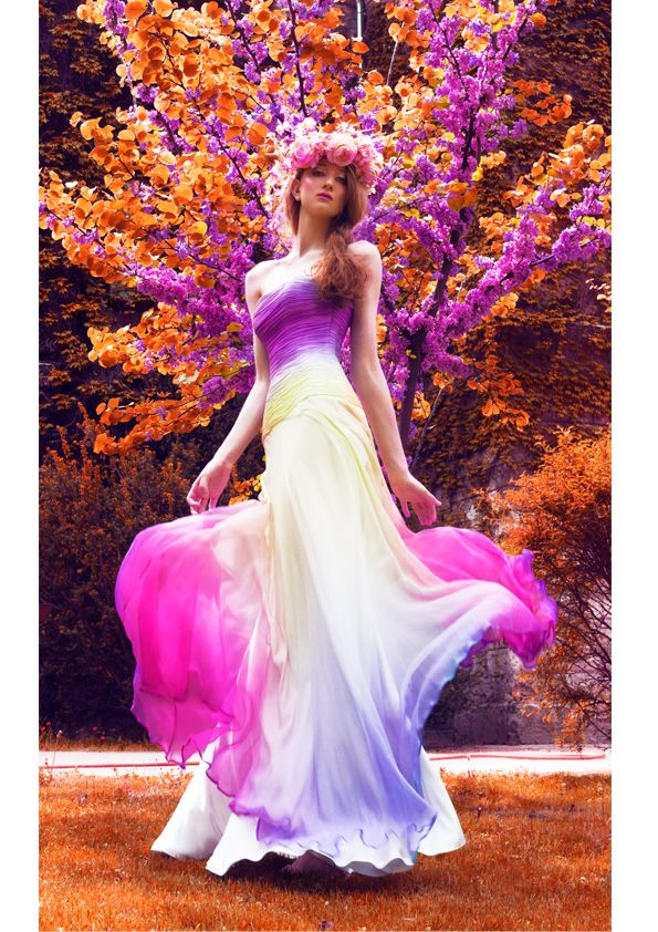 Ombre Daalarna Couture dress