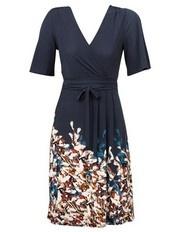 Leona by Leona Edmiston Navy Autumn Garden Mock wrap dress $149