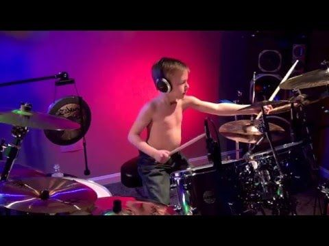 """Master of Puppets"" Avery 6 year old Drummer"