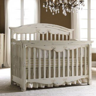 love this vintage-distressed crib, but not sure if it will work with my baby boy's room