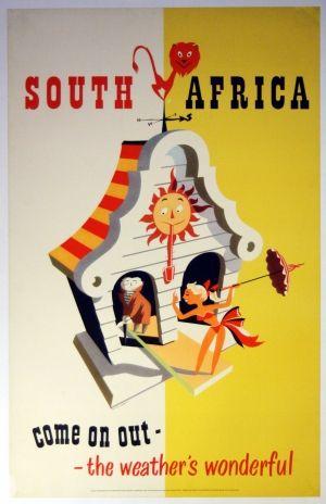 South Africa, 1940s - original vintage poster by Bernard Sargent listed on AntikBar.co.uk