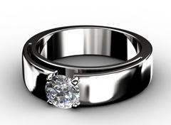 Diamant Verlobungsring Sinneslust, 750er Weißgold 18 Karat