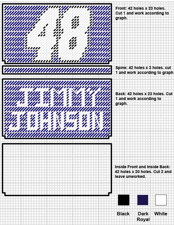 Jimmy Johnson plastic canvas keychain pattern | 48 Jimmy Johnson Checkbook Cover Pattern